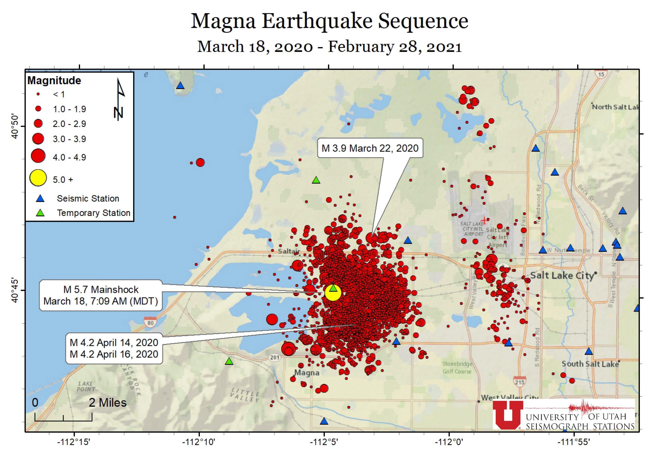 Recent Seismicity Map